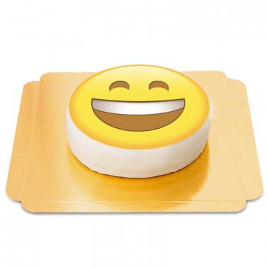 Tort z uśmiechającą się emotikoną