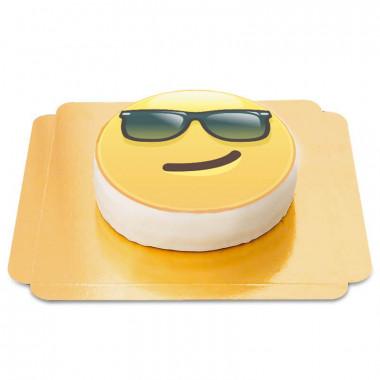 Tort z emotikoną cool