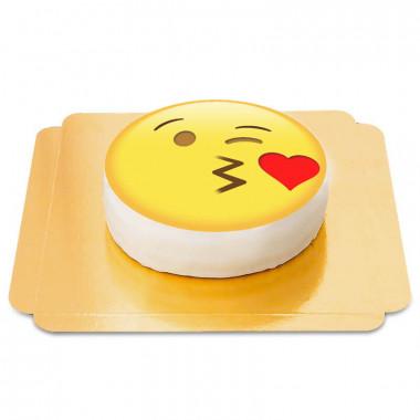Tort emotikona z buziakiem