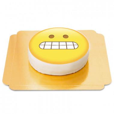 Tort emotikona z zaciśniętymi zębami