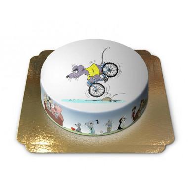 Mysz na rowerze