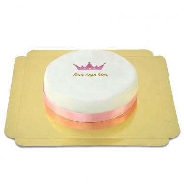 Okrągły tort firmowy rozmiar - 18cm