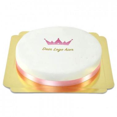 Okrągły tort firmowy  - 26 cm