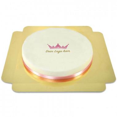 Okrągły tort firmowy - 36 cm