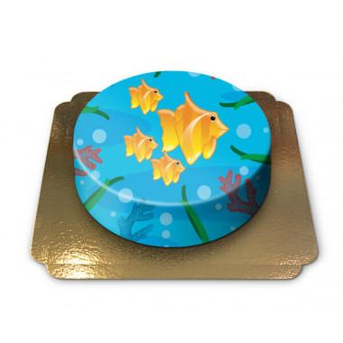 Tort morski ze złotymi rybkami