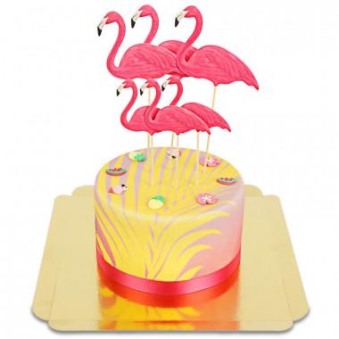 Tort Deluxe z flamingiem