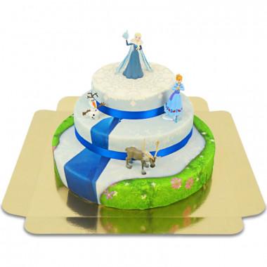 Kraina lodu 3 - Elsa, Anna i towarzysze na trzypiętrowym torcie