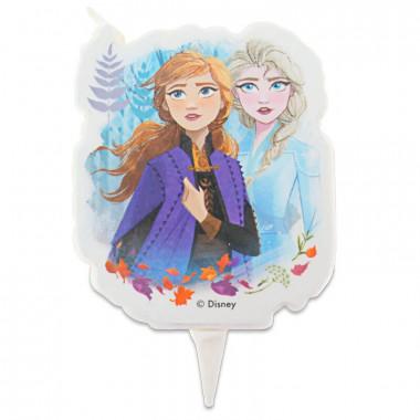 Świeczka na tort - Anna i Elsa z Krainy lodu