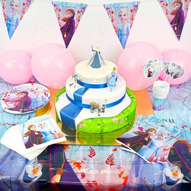 Kraina Lodu - zestaw z tortem