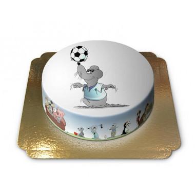Myszka z piłką nożną