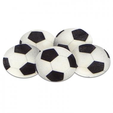Piłki nożne z marcepanu, około 4 cm (5 sztuk)