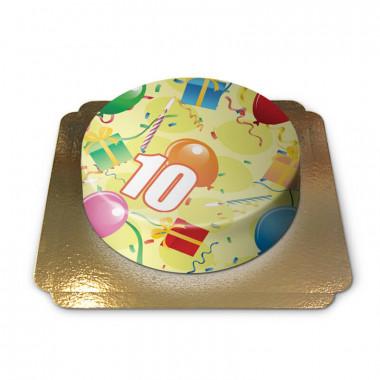Tort urodzinowy z cyfrą
