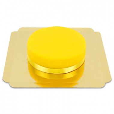 Żółty Tort - ze wstążką