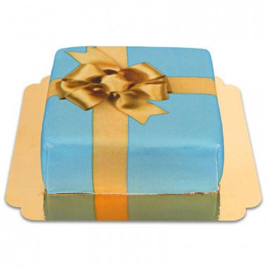 Tort - niebieski prezent