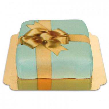 Tort - zielony prezent