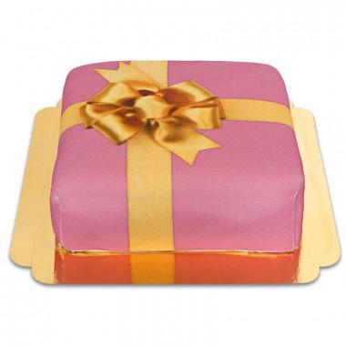 Tort - różowy prezent