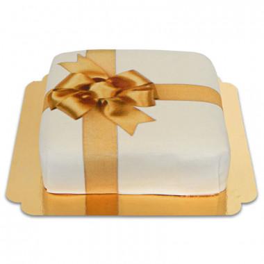 Tort - biały prezent
