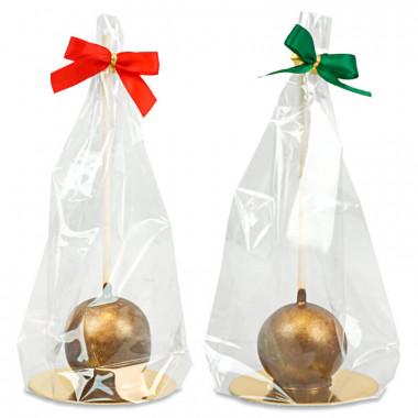Złote Deluxe Cake-Pops (10 sztuk) - wersja świąteczna