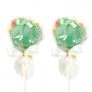 Zielone cake-pops z literkami (12 sztuk)