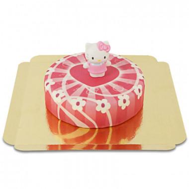 Tort - Hello Kitty - różowy