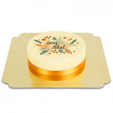 Tort z jesiennymi ozdobami