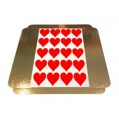 Nakładki na torciki z sercem - 5 x 5 cm