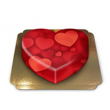 Tort w kształcie serca, tło w serca
