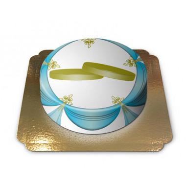Tort z obrączkami