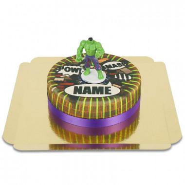 Tort z figurką Hulk