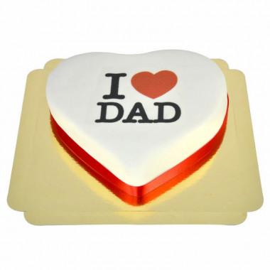 I Love Dad-tort serce