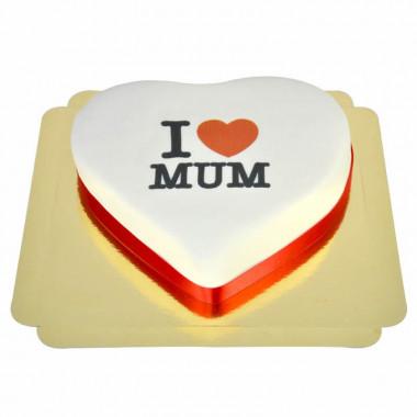 Tort w kształcie serca - I Love Mum