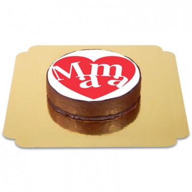 Tort czekoladowy  - serce dla mamy