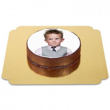 Tort Sachera czekoladowy ze zdjęciem