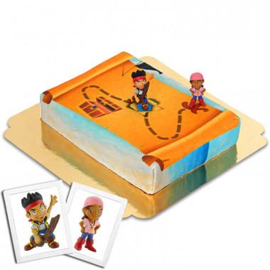 Piraci Jake i Iza na torcie z Nibylandii