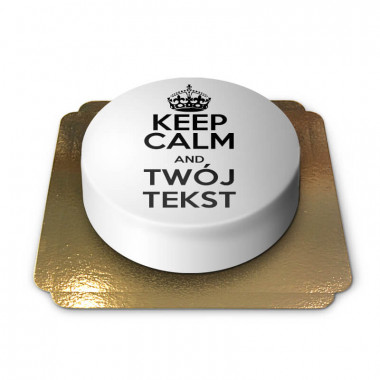 """""""Keep Calm and..""""-Tort, biały"""