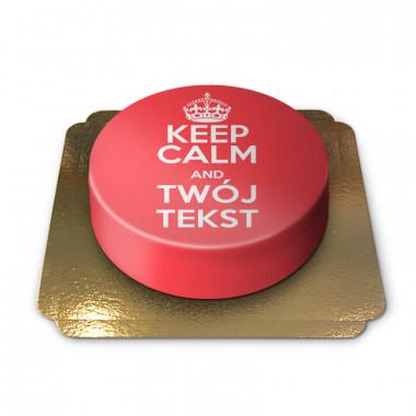 """""""Keep Calm and..""""-Tort, czerwony"""