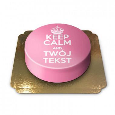 """Keep Calm and..""-Tort, różowy"