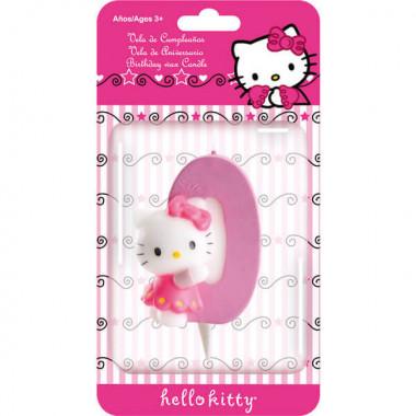 Świeczka tortowa Hello Kitty z cyfrą