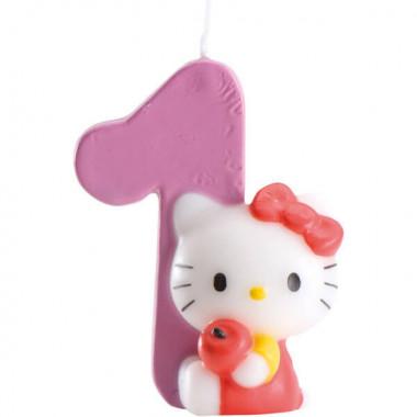Świeczka tortowa Hello Kitty z cyfrą od 0 do 9