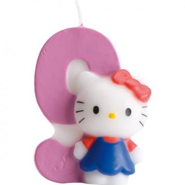 Świeczka tortowa Hello Kitty z cyfrą 9