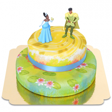 Księżniczka i Żaba - Tiana i Naveen na dwupiętrowym torcie