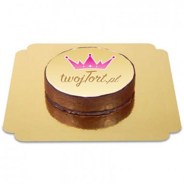 Tort Sachera czekoladowy z logiem