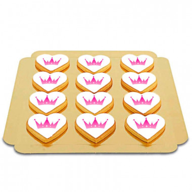 Ciasteczkowe Serca z Logo (12 Sztuk)
