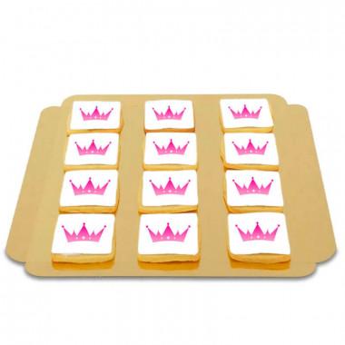 Kwadratowe Ciastka z Logo ( 12sztuk )