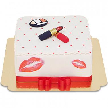 Tort Deluxe Make-Up, kwadratowy o podwójnej wysokości