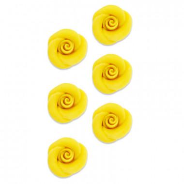 Róża Marcepanowa Żółta, ok. 35 mm (6szt.)