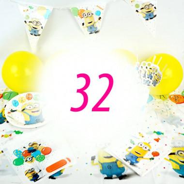 Zestaw Minionków dla 32 osób - bez Tortu