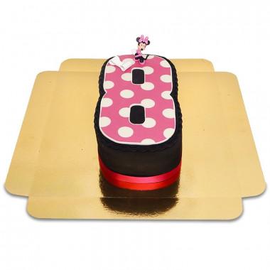 Tort Myszka Minnie w kształcie cyfry