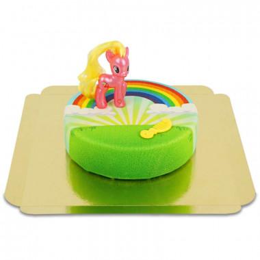 My little Pony Cherry Berry na tęczowym torcie