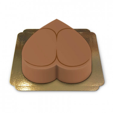 Tort naga pupa w kolorze cappuccino